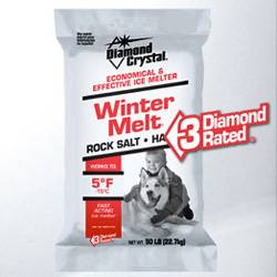 Bag of Halite Winter Melt deicing salt