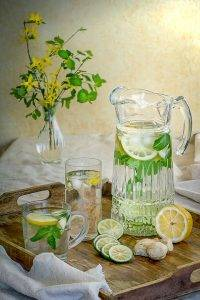 filtered water in pitcher