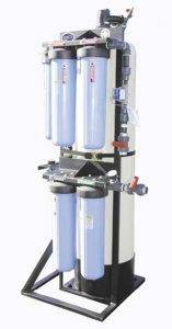 blue commercial water filtration system