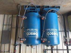 Besco branded water tanks