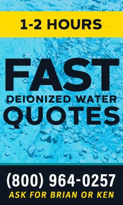 Fast Deionized Water Quotes Ad